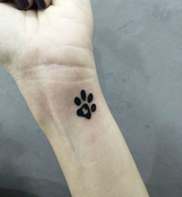 Tatuaje Huella corazón