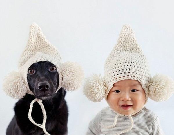 fotos-adorables-de-un-bebe-y-su-perro-hechas-por-la-madre-gorro-punto