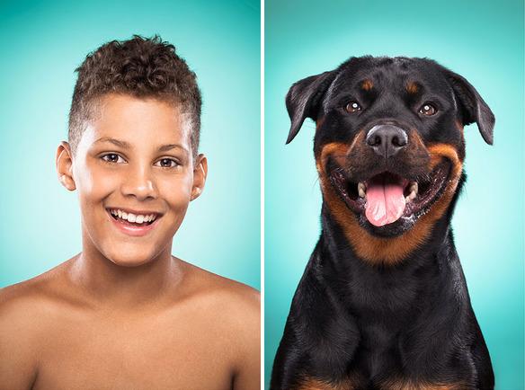 Se parecen los perros a sus dueños fotos de ines opifanti-sonrisa-niño